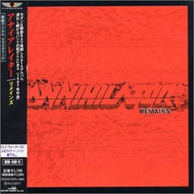 Annihilator REMAINS CD