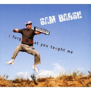 Sam Barsh I FORGOT WHAT YOU TAUGHT ME CD