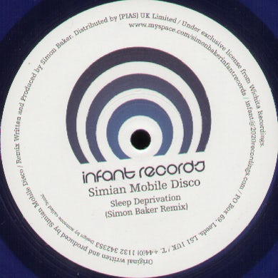 Simian Mobile Disco SLEEP DEPRIVATION Vinyl Record