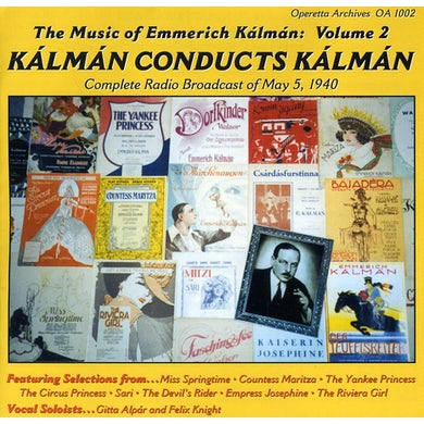 Emmerich Kalman KALMAN CONDUCTS KALMAN / Original Soundtrack CD