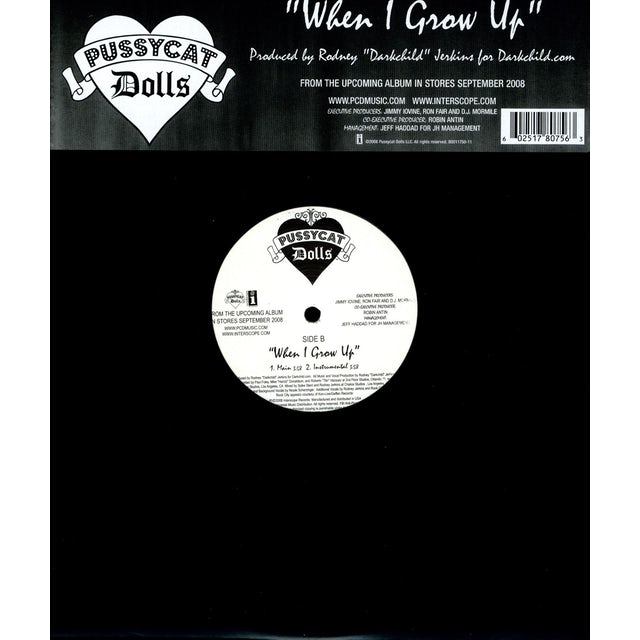 Pussycat Dolls WHEN I GROW UP (X2) Vinyl Record
