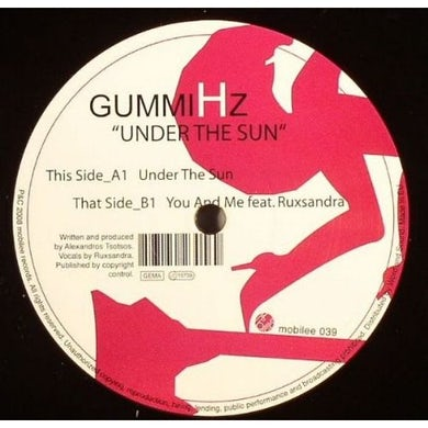 Gummihz UNDER THE SUN Vinyl Record