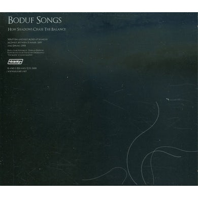 Boduf Songs HOW SHADOWS CHASE THE BALANCE CD