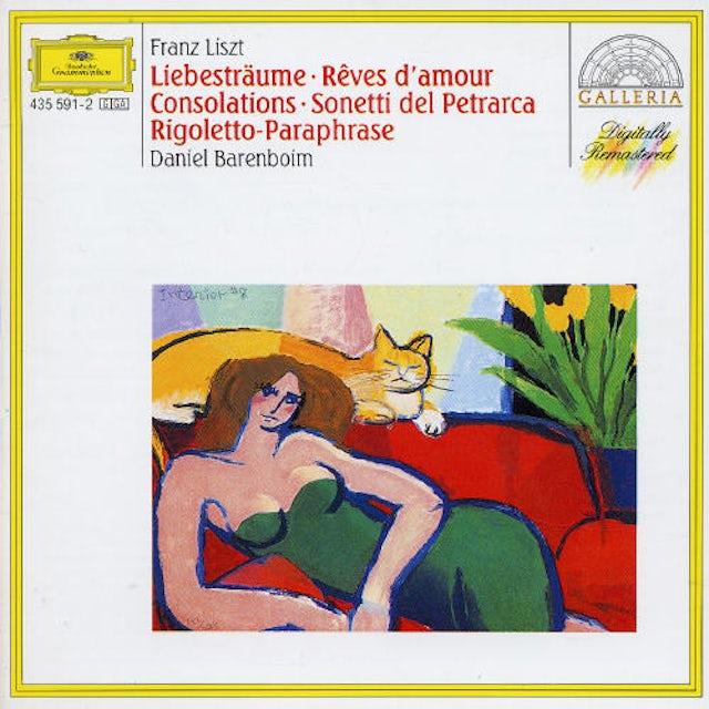 Liszt / Barenboim RIGOLETTO PARAPHRASE / CONSOLATIONS NOS. 1-6 CD