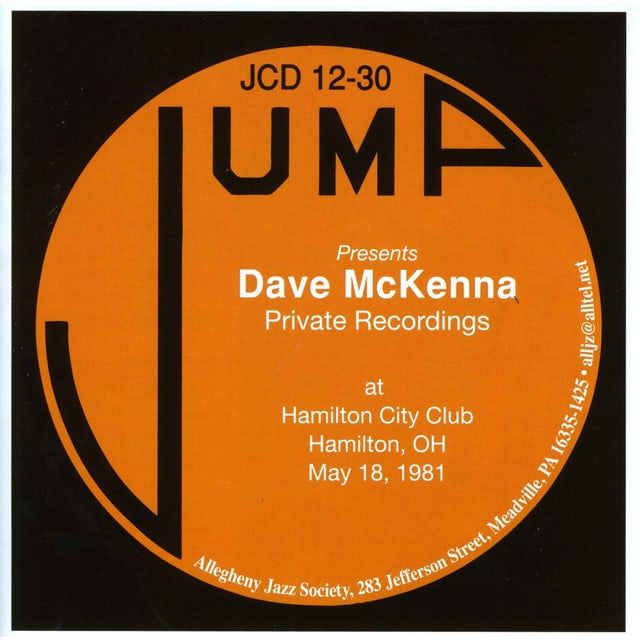 Dave McKenna MAY 18 1981 PRIVATE SOLO RECORDINGS CD
