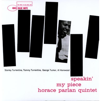 Horace Parlan SPEAKIN PEACE Vinyl Record
