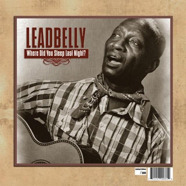 Leadbelly WHERE DID YOU SLEEP LAST NIGHT Vinyl Record