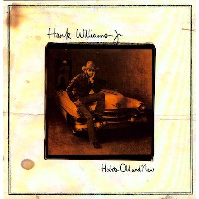 Hank Williams Jr. HABITS OLD & NEW Vinyl Record