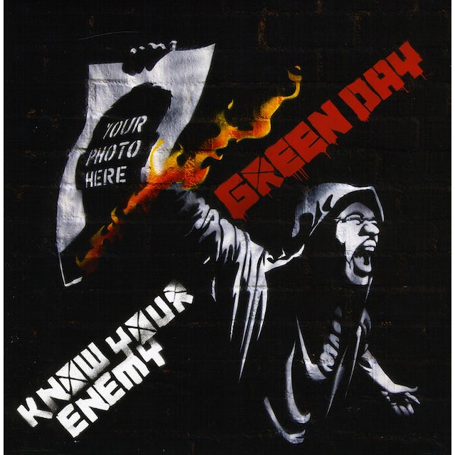 Green Day KNOW YOUR ENEMY / HEARTS COLLIDE Vinyl Record