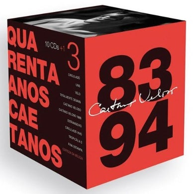 Caetano Veloso QUARENTA ANOS CAETANOS: 1983-1993 (BOX) CD