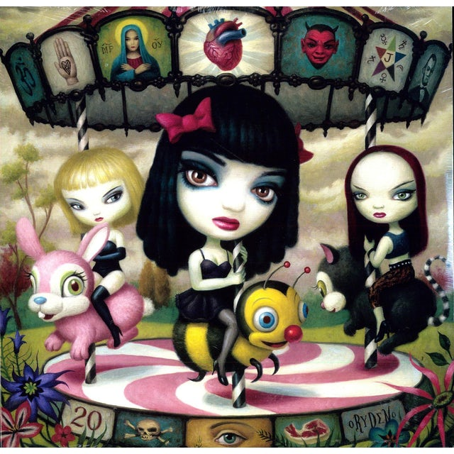 Jack Off Jill CLEAR HEARTS GREY Vinyl Record