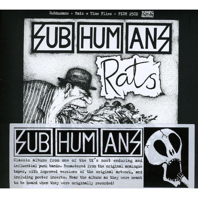 Subhumans TIME FLIES & RATS CD