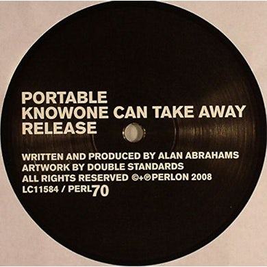Portable KNOWONE CAN TAKE AWAY Vinyl Record
