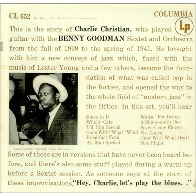Charlie Christian WITH THE BENNY GOODMAN SEXTET Vinyl Record