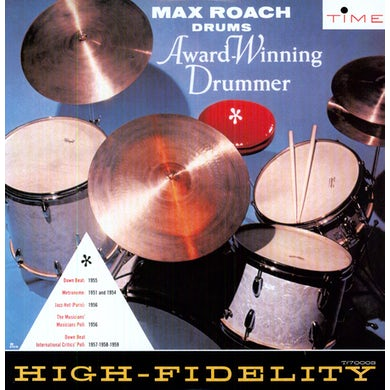 Max Roach AWARD WINNING DRUMMER Vinyl Record