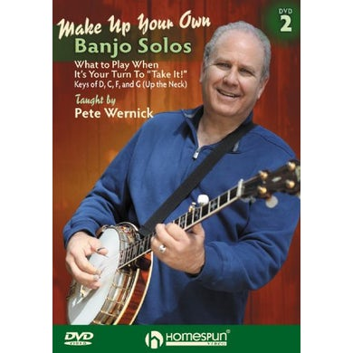 Pete Wernick MAKE UP YOUR OWN BANJO SOLOS 2 DVD