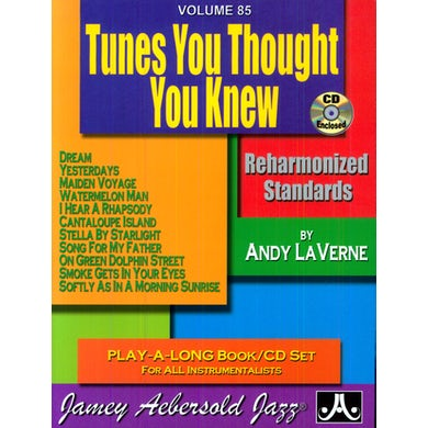 Jamey Aebersold TUNES YOU THOUGHT YOU KNEW: REHARMONIZED STANDARDS CD