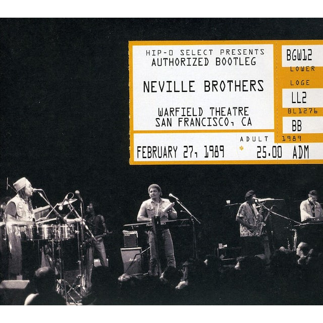 Neville Brothers AUTHORIZED BOOTLEG WARFIELD THEATRE SAN FRANCISCO CD