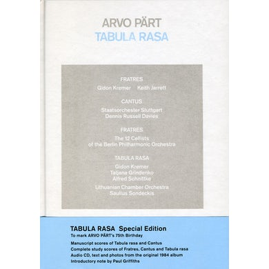 Arvo Part TABULA RASA CD