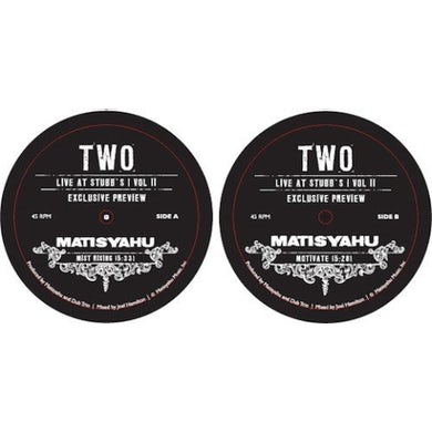 Matisyahu TWO Vinyl Record