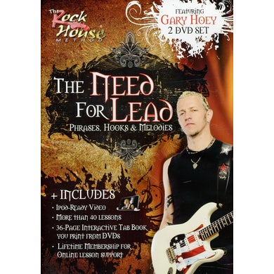 Gary Hoey NEED FOR LEAD: PHRASES HOOKS & MELODIES DVD