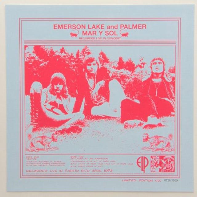 Emerson, Lake & Palmer MAR Y SOL Vinyl Record