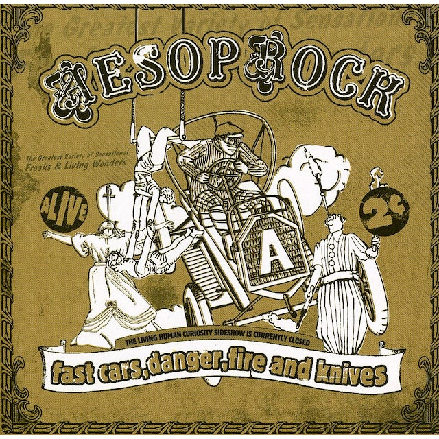 Aesop Rock FAST CARS, DANGER, FIRE & KNIVES CD