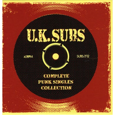 U.K. Subs COMPLETE PUNK SINGLES COLLECTION CD