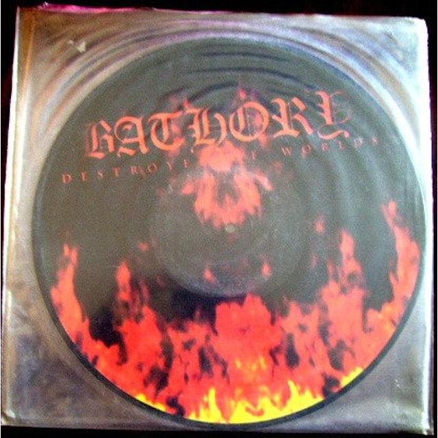 Bathory DESTROYER OF WORLDS Vinyl Record