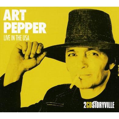 Art Pepper LIVE IN THE USA CD