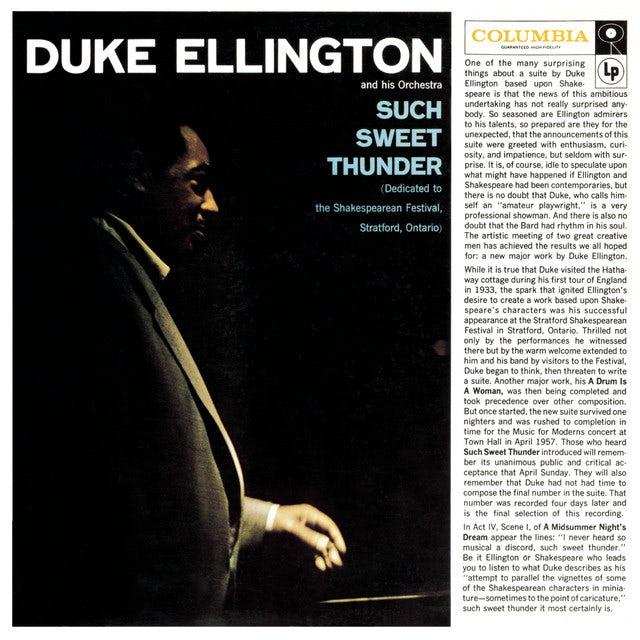Duke Ellington SUCH SWEET THUNDER Vinyl Record - 180 Gram Pressing