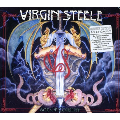 Virgin Steele AGE OF CONSENT CD