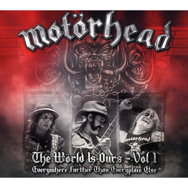 Motorhead WORLD IS OURS 1: EVERYWHERE FURTHER THAN EVERYPLAC CD