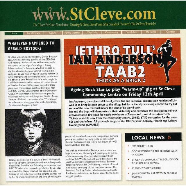 Ian Anderson TAAB2: THICK AS A BRICK 2 CD