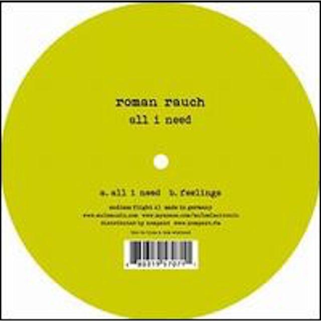 Roman Rauch ALL I NEED Vinyl Record