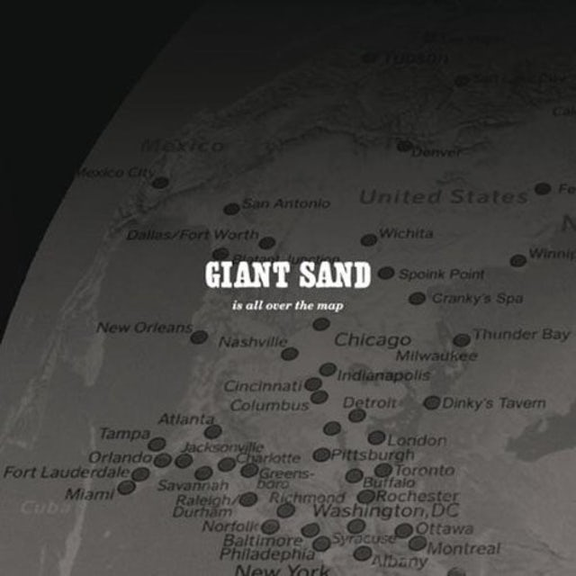 Giant Sand IS ALL OVER THE MAP Vinyl Record