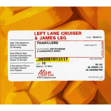 Left Lane Cruiser & James Leg PAINKILLERS CD