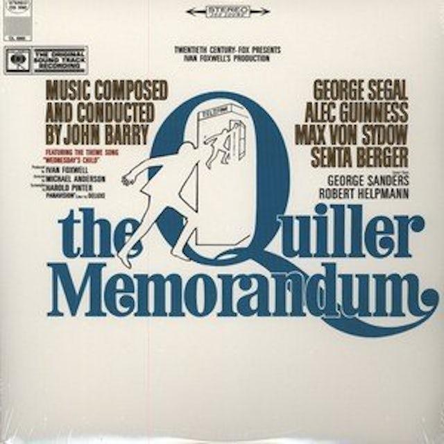 Quiller Memorandum / O.S.T. QUILLER MEMORANDUM / Original Soundtrack Vinyl Record