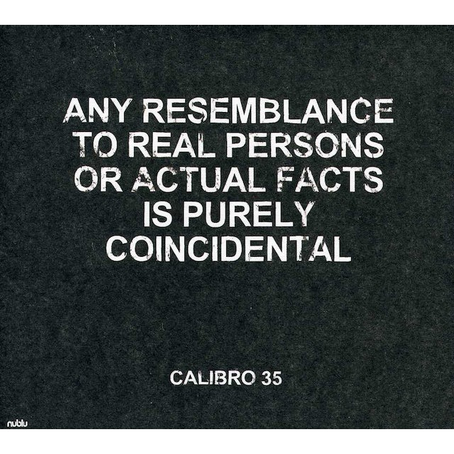 Calibro 35 ANY RESEMBLANCE TO REAL PERSONS OR ACTUAL FACTS CD
