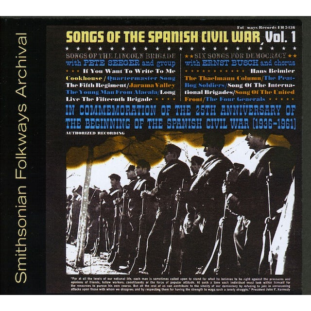 Pete Seeger SONGS OF THE SPANISH CIVIL WAR 1: LINCOLN BRIGADE CD