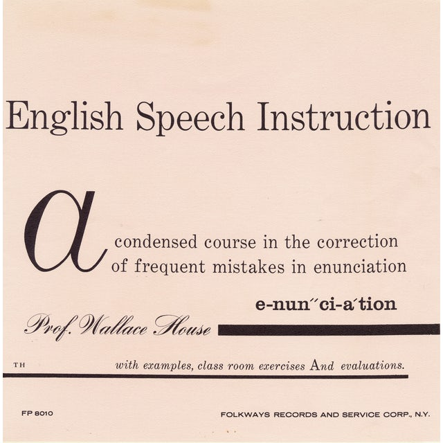 Wallace House SOUNDS OF SPOKEN ENGLISH: ENGLISH SPEECH CD