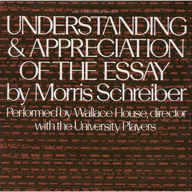 Wallace House UNDERSTANDING AND APPRECIATION OF THE ESSAY CD