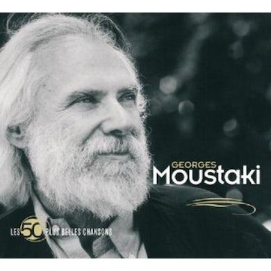 Georges Moustaki LES 50 PLUS BELLES CHANSONS CD
