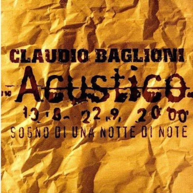 Claudio Baglioni SOGNO DI UNA NOTTE DI NOTE CD