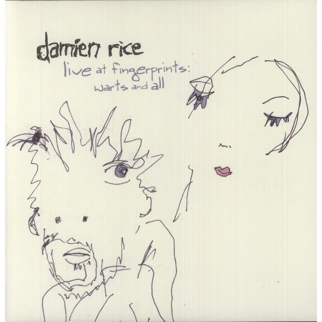 Damien Rice LIVE AT FINGERPRINTS: WARTS & ALL Vinyl Record