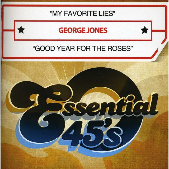 George Jones MY FAVORITE LIES / GOOD YEAR FOR THE ROSES CD