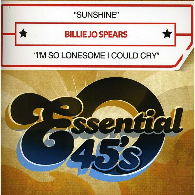 Billie Jo Spears SUNSHINE / I'M SO LONESOME I COULD CRY CD