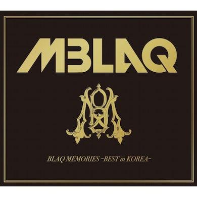 MBLAQ BLAQ MEMORIES: BEST IN KOREA CD