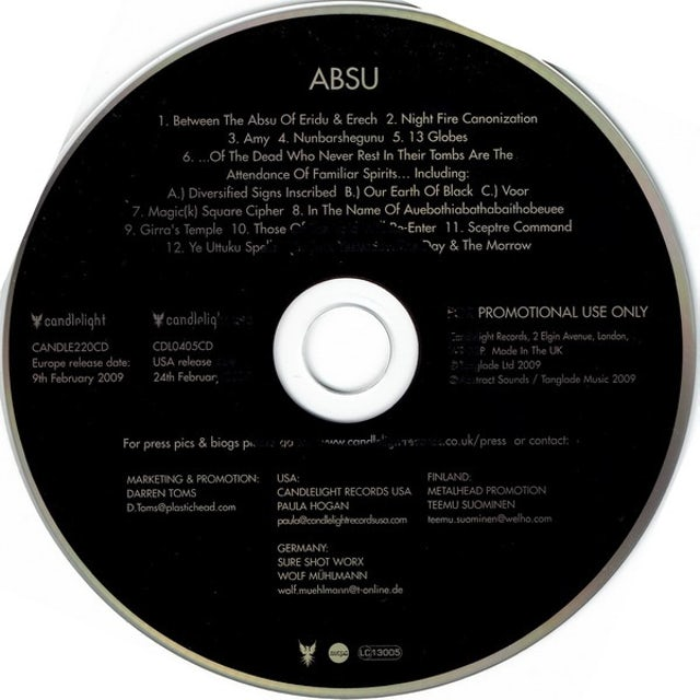 Absu Vinyl Record - UK Release