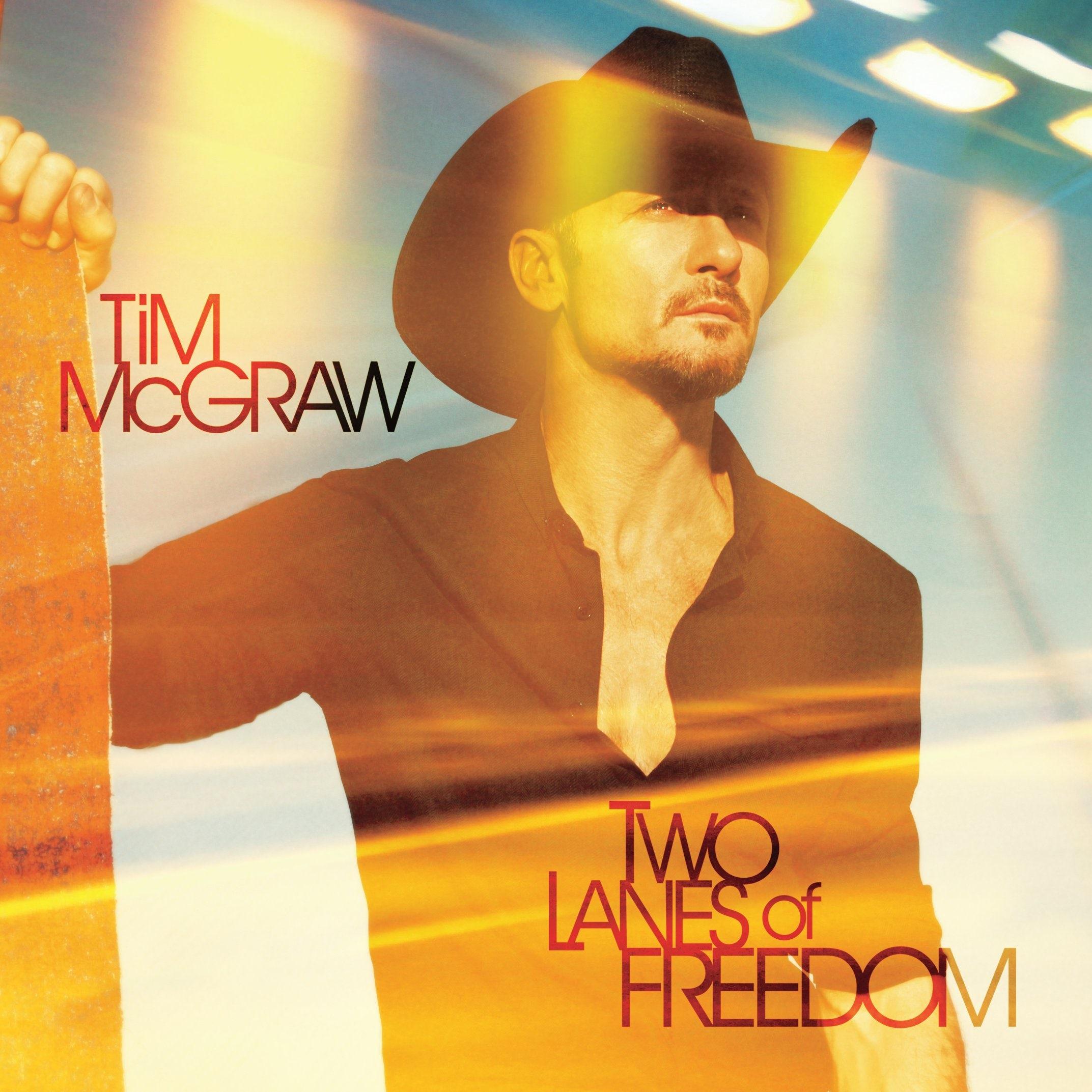 TIM MCGRAW TWO LANES OF FREEDOM MEN LONG SLEEVES T SHIRT